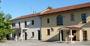 "The entrance of the Museum in a restored old farm ""cascina Vigna"""